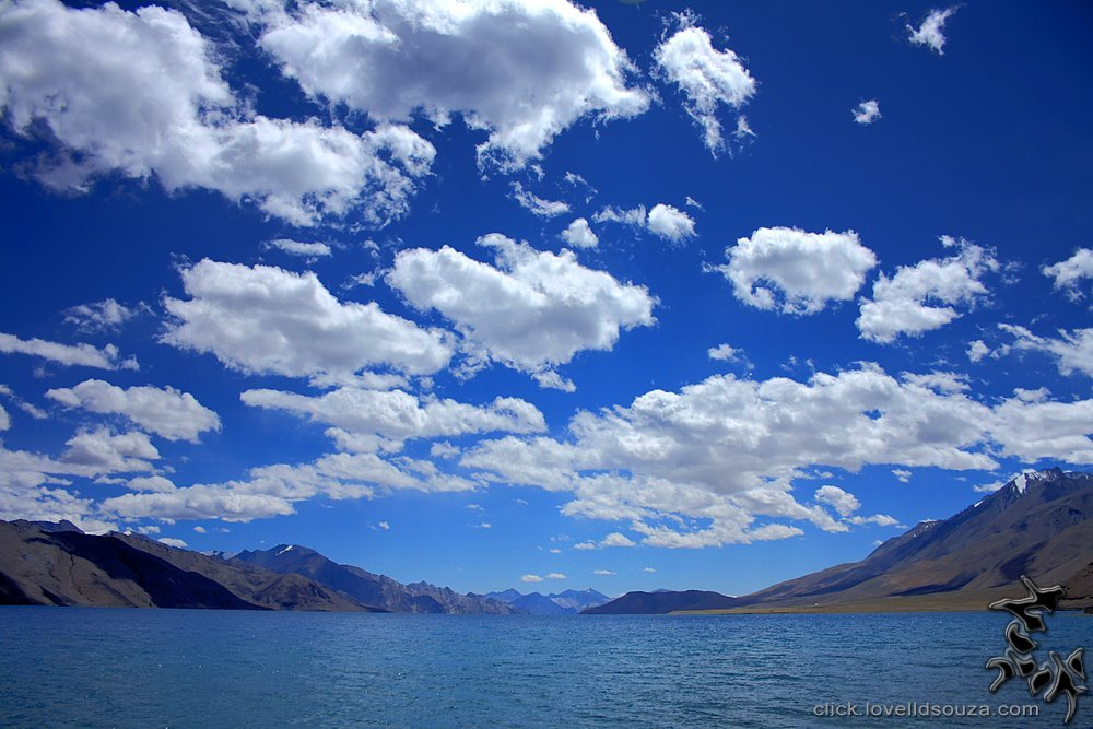 The Beautiful Sky at the Pangong Lake