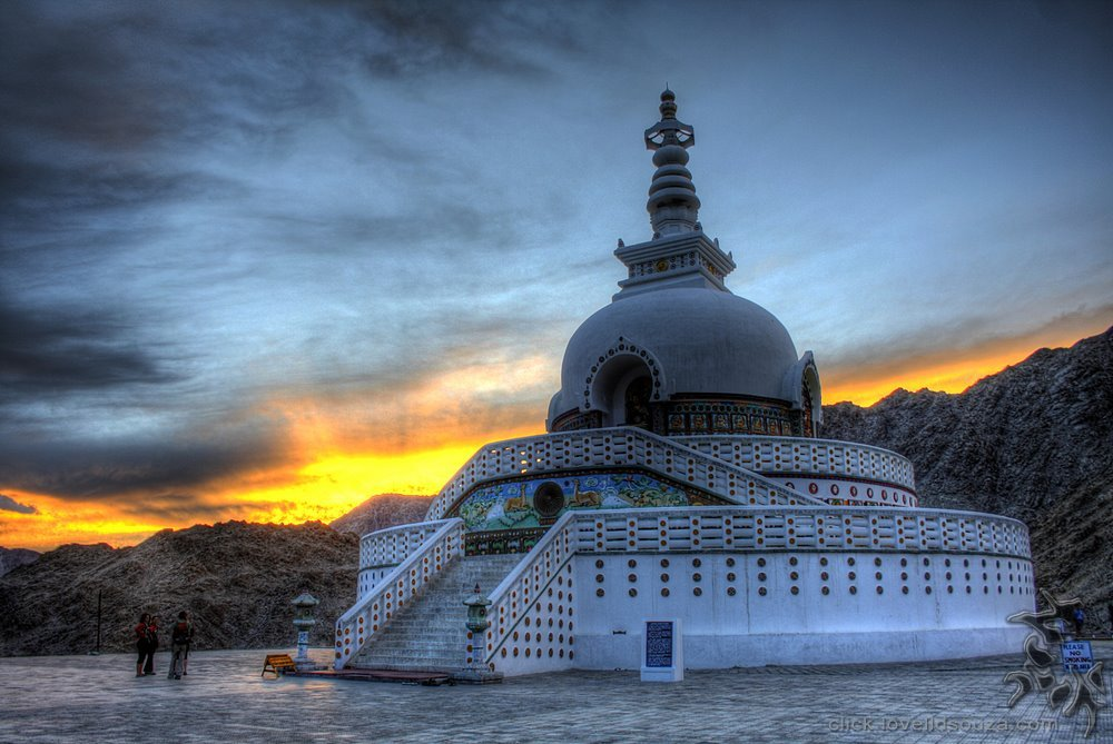 Sunset at the Shanti Stupa, Leh