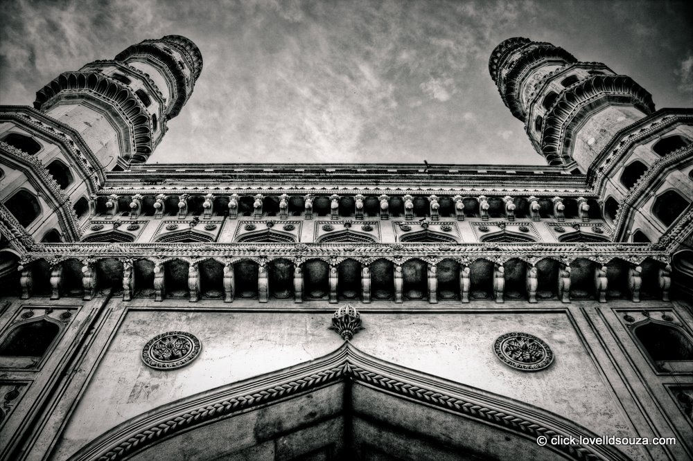 Up close, with the Charminar